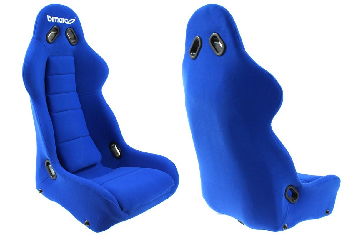 Fotel Sportowy Bimarco Cobra Welur Blue - GRUBYGARAGE - Sklep Tuningowy